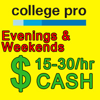 Part time marketing evenings and weekends-pays $15+ hour