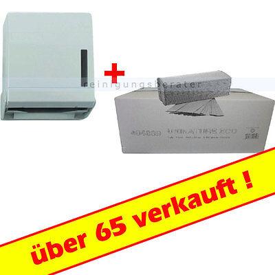 Falthandtuchspender inkl. 5000 Blatt Handtuchpapier 1-lagig