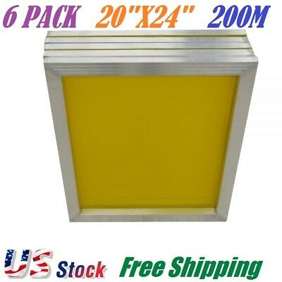6 Pack Aluminum Frame Silk Screen Printing Screens 20 X 24 Inch 200 Mesh Count