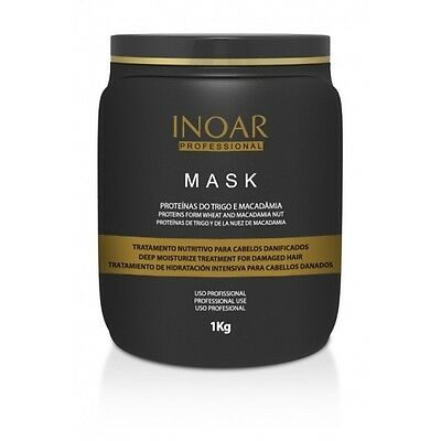 INOAR Macadamia Hair Mask 1KG  Post Brazilian Keratin