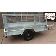 Extreme 7x5 Heavy Duty Welded Galvanised Box Trailer 600mm Cage Fairfield East Fairfield Area Preview