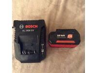 Bosch battery and charger