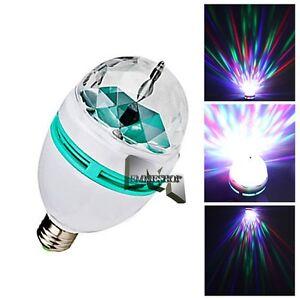lampadina led rgb : Details about LAMPADA LAMPADINA LUCE LED RGB ROTANTE EFFETTO DISCO ...