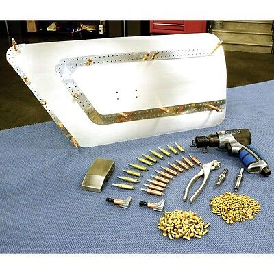 Pneumatic Air Solid Rivet Gun Kit An470 Ms2047 Aircraft Auto Body Tool 18- 316
