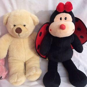 Build a bear pink terrier, teddy bear, ladybug stuffed animals London Ontario image 6