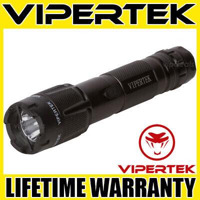 Vipertek Stun Gun Vts-t03 Black 550bv Metal Rechargeable Led Flashlight
