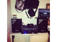 NUMARK MIX DECK + PROSOUND 400 AMP + 4 X 400W PRO SOUND SPEAKERS