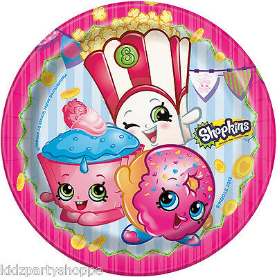 Dessert Buffet Supplies (SHOPKINS DESSERT PLATES Birthday Party Supplies Buffet)