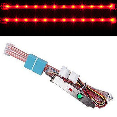 "2x Red 12"" LED's strip inches long Tubes Glow Accent for PC Computer case"