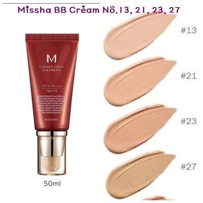 Missha  M Perfect Cover Blemish Balm Bb Cream 50Ml  13    21    23    27 Spf42
