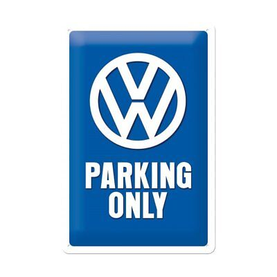 Nostalgic Art VW Parking only Schild Blechschild Blechkarte Vintage