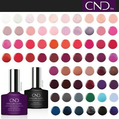 🔥CND SHELLAC LUXE UV GEL NAIL POLISH /// 50+ SHADES \ BOXED 12.5ml🔥TOP COAT