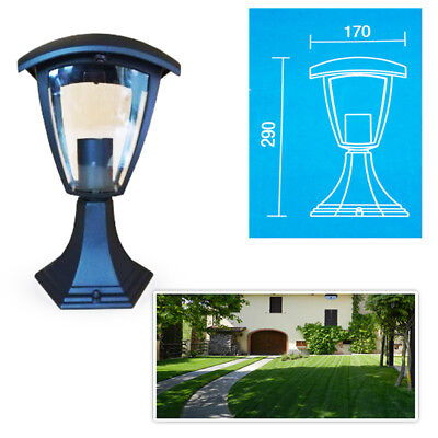 Lamp for the Garden V-TAC Lampione Black Outer Lighting Lantern E27 361