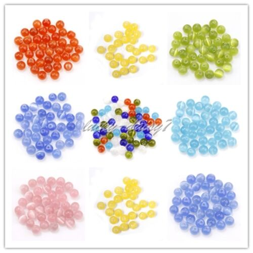 New-50-200Pcs-Glass-Opal-Loose-Charms-Spacer-Beads-Jewelry-Making-4-6-8-10mm