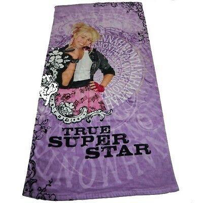 Hannah Montana Strandtuch (HANNAH MONTANA Disney® TRUE SUPER STAR Strandtuch Strandlaken Badetuch 75x150cm)