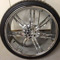 "26"" borghini wheels with tires"