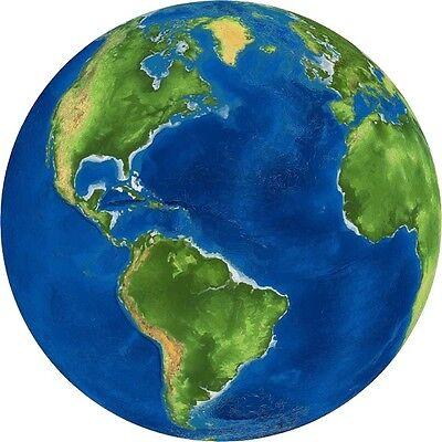 30 Custom Earth Globe Personalized Address Labels