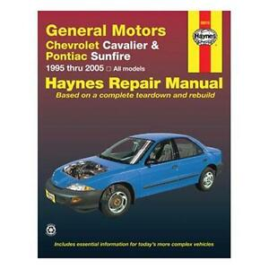 Haynes Manual: GM Chevrolet Cavalier & Pontiac Sunfire 1995-2005