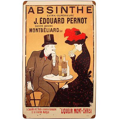 Vintage Absinthe J. Edouard Pernot Metal Bar Sign - Pub Wall Liquor Display Art