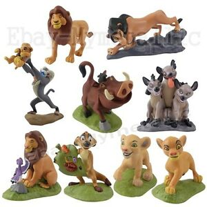 Disney The Lion King Simba Nala Pumbaa Timon 5cm-9cm PVC Figure Set Of 9pcs