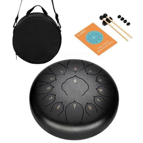 Steel Tongue Drum Tank Drum 13 Notes 12 Inch Percussion Instrument Hand Pan Drum