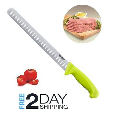 SALE Brisket Knife Slicing Best Meat Slicer Beef BBQ Carving Long Smoked Salmon (Meat Carving Knife)