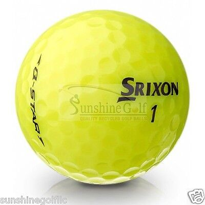 24 AAA Srixon Q-Star YELLOW Used Golf Balls (3A)](Yellow Star)