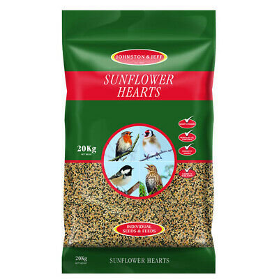Johnston & Jeff Sunflower Hearts - Sunflower Seeds Wild Bird Feed Food - 12.75kg