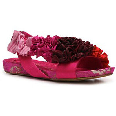 IRREGULAR CHOICE SHOES SANDALS BINGO BEST RED LOW STYLISH FRILLY