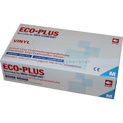 Einmalhandschuhe aus Vinyl Ampri Eco-Plus weiß M Einweghandschuhe