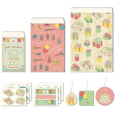 Cavallini & Co. Happy Birthday Petite Parcel Set, Birthday Gift Wrap Bags](Tiny Gift Bags)