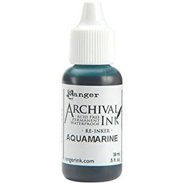 RANGER Archival Reinker .5oz Refill Ink for Stamp Pads Select from 55 colors Aquamarine