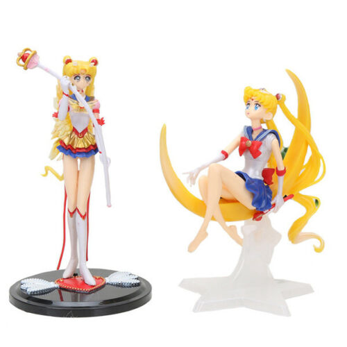 2 Pack Sailor Moon Tsukino Usagi Action Figures Set Cake Topper Home & Car Decor