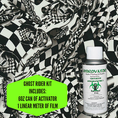 HYDROGRAPHIC FILM WATER TRANSFER HYDRO DIP 6OZ. ACTIVATOR GHOST RIDER KIT