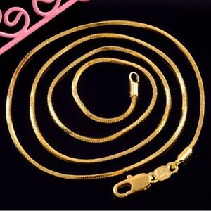 18k gold plated chain - collier plaquer or