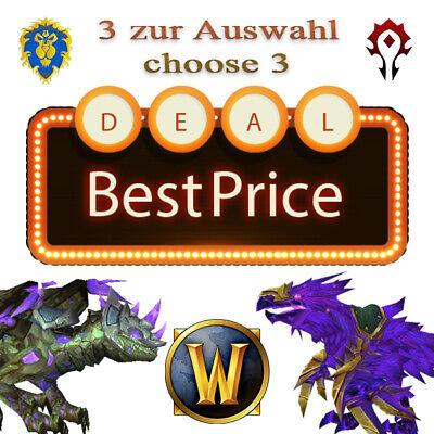 WoW Rare Mount Bundle ☆ 3 zur Auswahl ☆ choose 3 ☆ Boost ☆ Warcraft ☆ EU REALMS