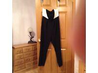 Ladies Black&White jumpsuit size 12