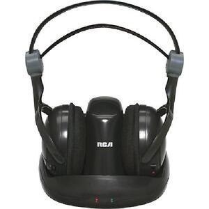 RCA 900MHz Full-Size Digital Wireless Headphones - Black - WHP141B