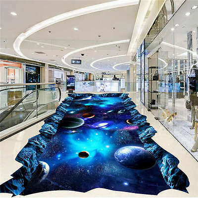 Galaxy Universe Painting 3D Floor Mural Photo Flooring Wallp