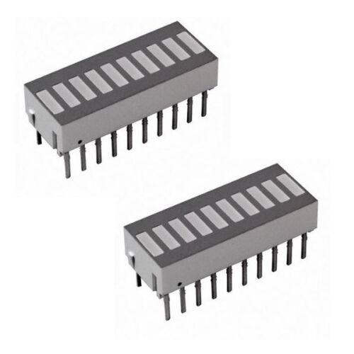 HP HDSP-4836 10-Element Green/Red/Yellow LED Bar Graph Array, DIP-20, QTY-5