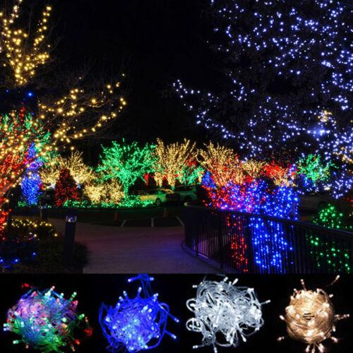 LED Lichterkette 10M/20M/40M/60M Weihnachtslichterkette Party Garten Halloween