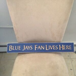 BLUE JAY WOODEN SIGN