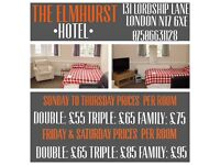 The Elmhurst Hotel. Great locatation for getting into London