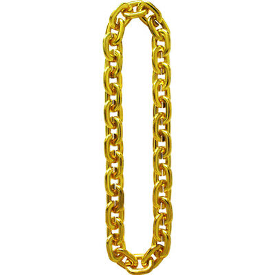 FAKE GOLD FAT ROPE CHAIN old school hip hop rapper pimp gangster costume bling - Fake Gold Rope Chain