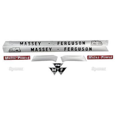Decal Set For Massey-ferguson Mf 135 148 Mf135 Mf148 Uk Tractor Sparex Vinyl Kit