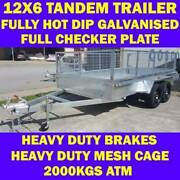 12x6 tandem trailer fully galvanised heavy duty trailer w cage 1 Clayton Monash Area Preview