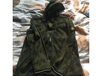 Stone island limited edition flowing camo hoody