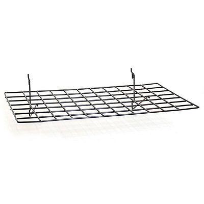 Flat Shelf Fits Slatwall Grid Pegboard In Black 23-12 W X14 D Inch- Box Of 5