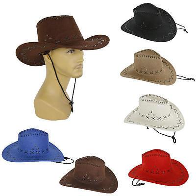 tik Cowboy-Hut Westernhut Kunstleder  blau  Herren (Blaue Cowboy-hut)