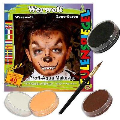 kset für Kids, mit Farben, Pinsel u. Anleitung (Werwolf Schminken Für Halloween)